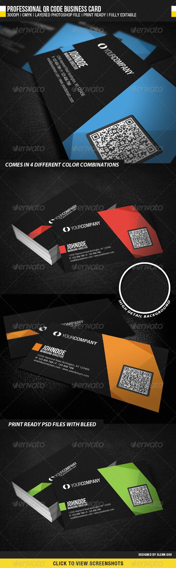Professional QR Code Business Card | Qr codes, Business cards and ...