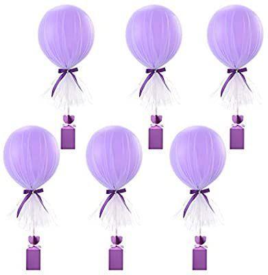 Amazon.com: Rosa Tüll Luftballons Tutu Party Ballon Set mit Box Base Ballon Cen ...