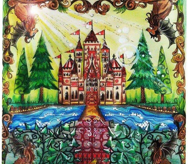 Castle Gate Enchanted Forest Castelo Portao Floresta Encantada Johanna Basford