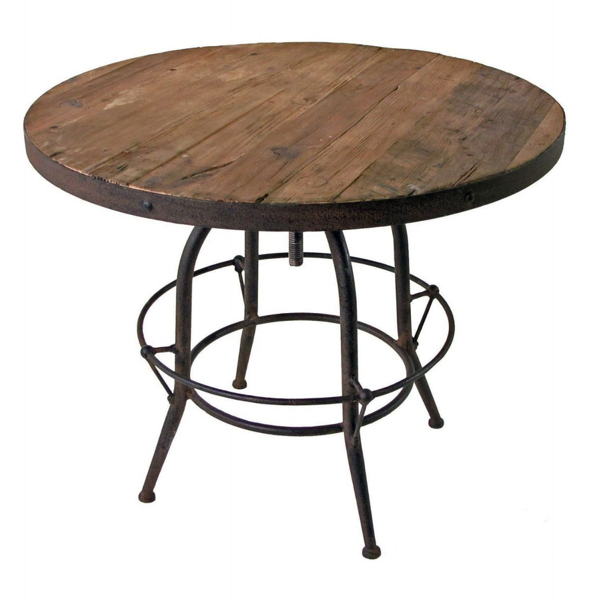 Wrought iron table legs Home Depot looks superb in high ...