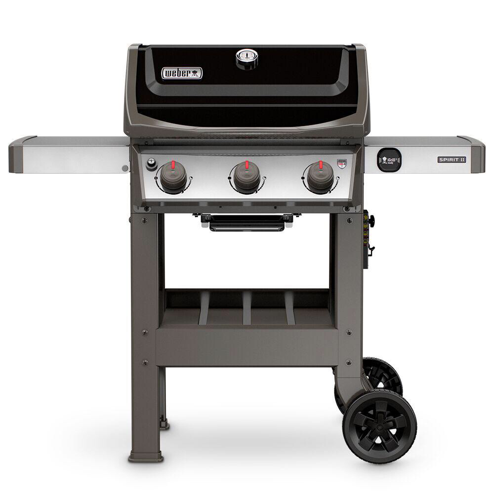 Weber Spirit Ii E 310 3 Burner Propane Gas Grill In Black 45010001 The Home Depot In 2020 Best Gas Grills Natural Gas Grill Gas Bbq
