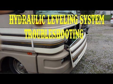 Hydraulic Jacks Leveling System Troubleshooting Fleetwood Bounder X2f Full Time Rv Vlog Youtube Fleetwood Bounder Fleetwood Full Time Rv