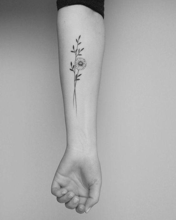 No image description available. #flowertattoos #flowertattoos – Flower Tattoo …  #flowertattoos - flower tattoos in 2020 | Daisy flower tattoos, Tiny tattoos, Tattoos for women