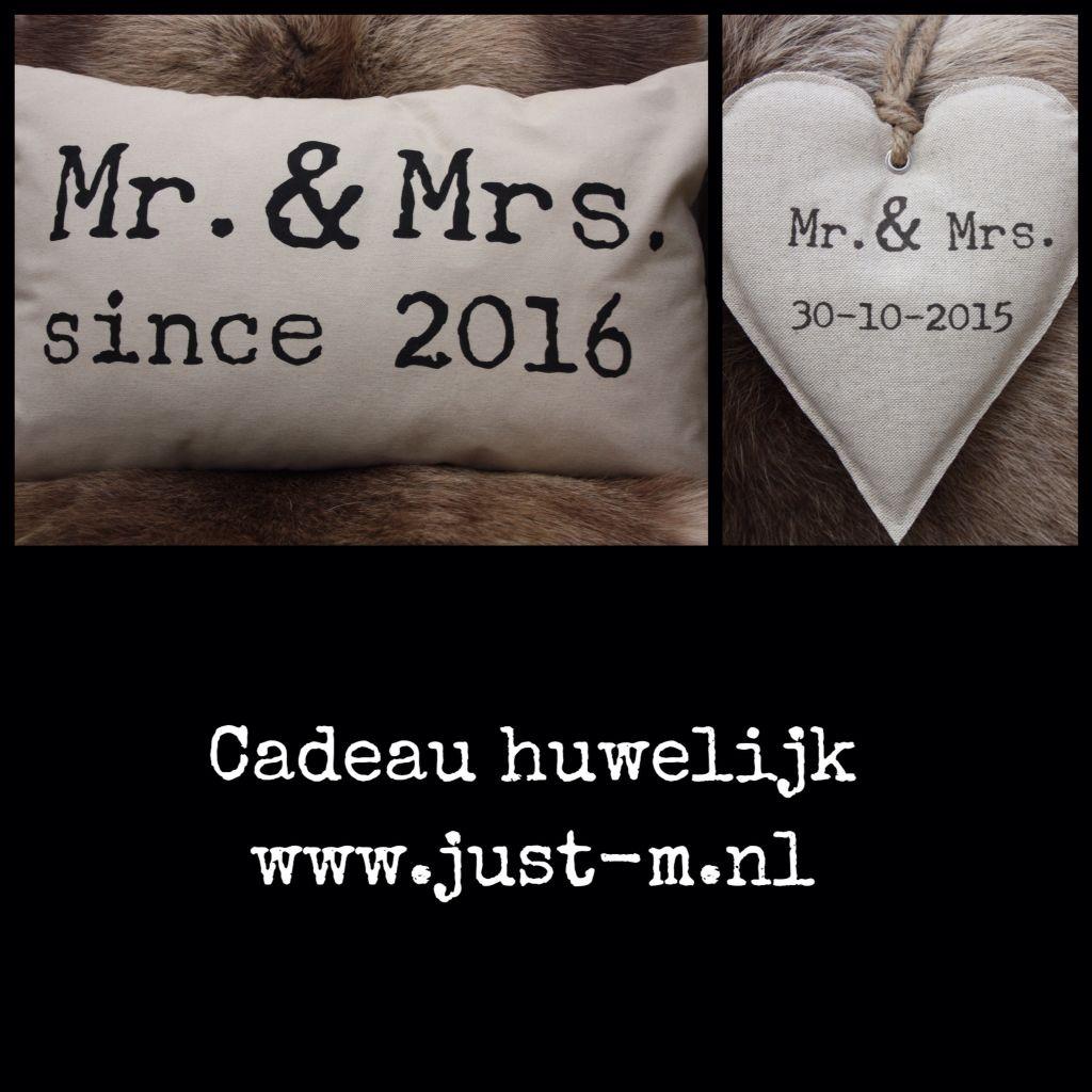 Cadeau huwelijk kado bruiloft handgemaakt persoonlijk