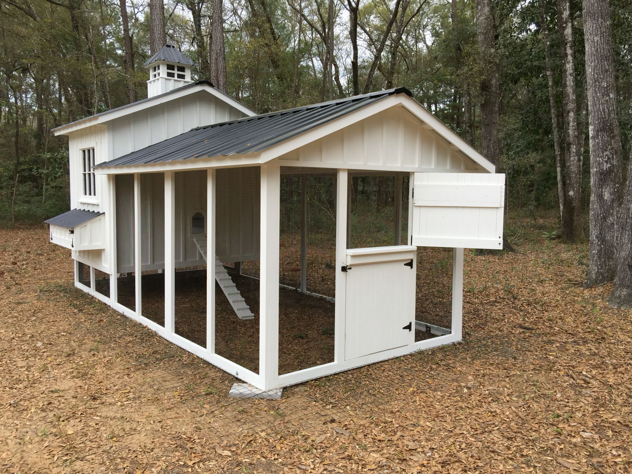 6x8 Henhouse With 6x18 Run Chicken Coop Chickens