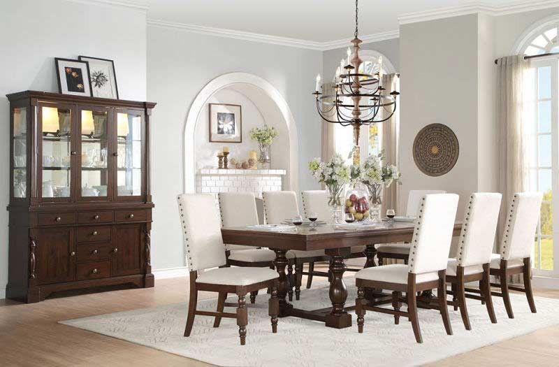 Breckenridge Round Dining Room Set W Indigo Chairs By Legacy Classic Furniturepick