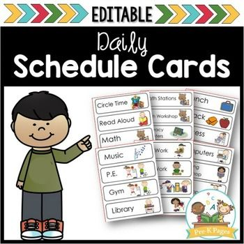 Printable Picture Schedule Cards for Preschool and ...