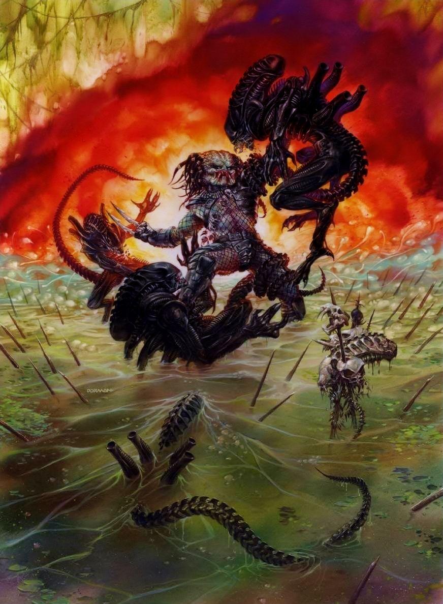 My favorite artist, Aliens vs. Predator print by Dave Dorman