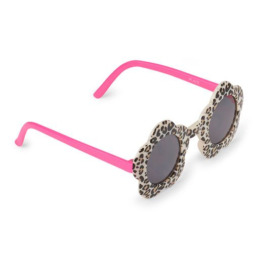 53ed8782f9f Baby Girls Toddler Leopard Print Flower Sunglasses - Tan - The Children s  Place