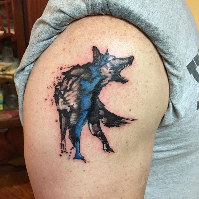 Policetattoo K9 Dog Tattoos Police Tattoo Cop Tattoos