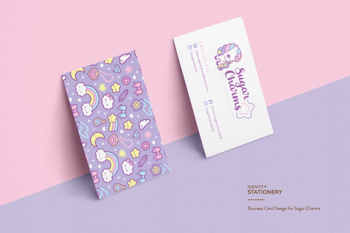 Pastel Unicorn Themed Logo And Brand For Sugar Charms By