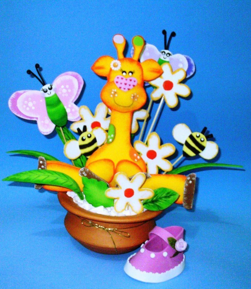 centro de mesa en foami para decorar tus fiestas de cumpleaos para nios o baby shower