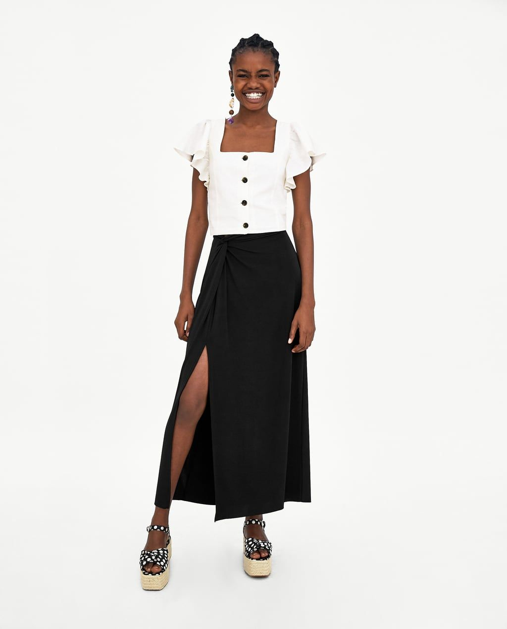 f831f6718c Image 1 of FRILLED TOP from Zara