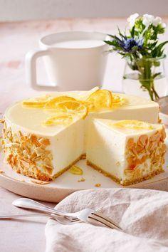 Zitronentorte ohne Backen Rezept  | LECKER #lemonfrosting