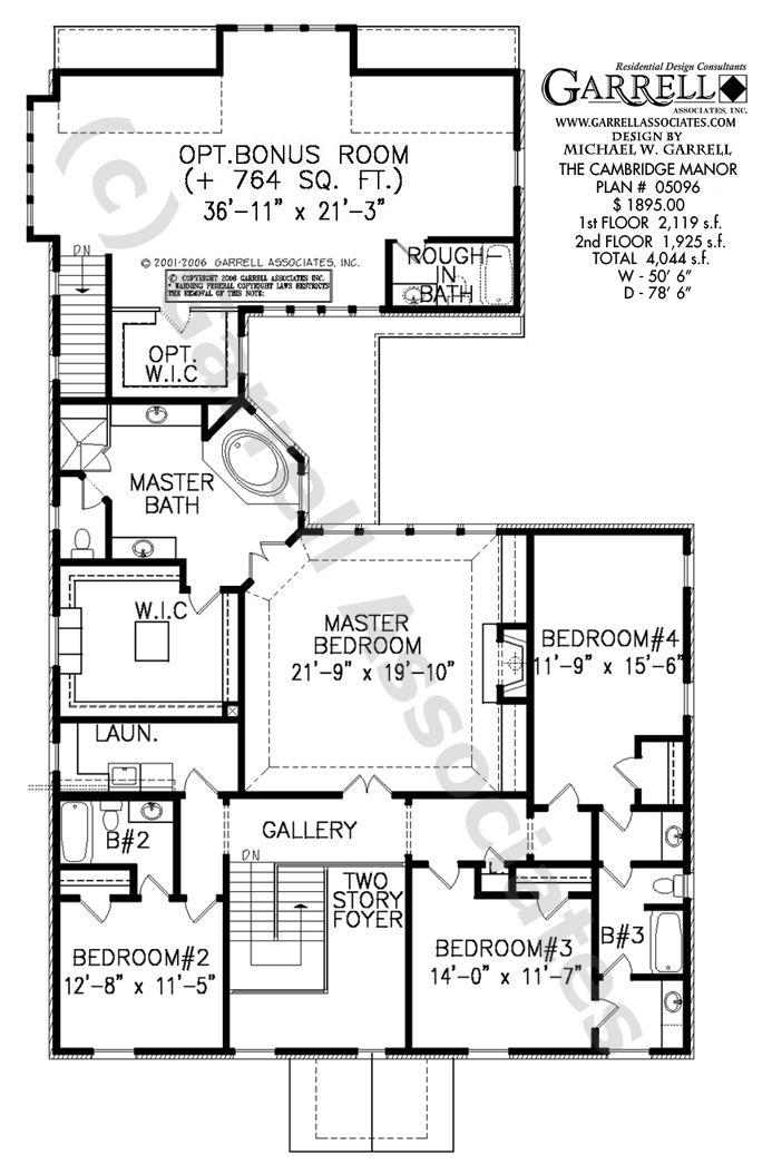 Cambridge Manor House Plan