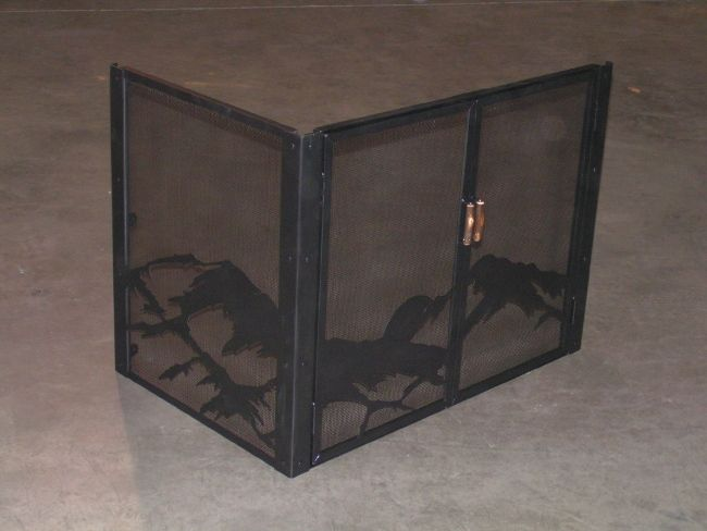 l shaped fireplace screen we could use one of these home now rh pinterest com L-shaped Fireplace Screens Custom Fireplace Screens