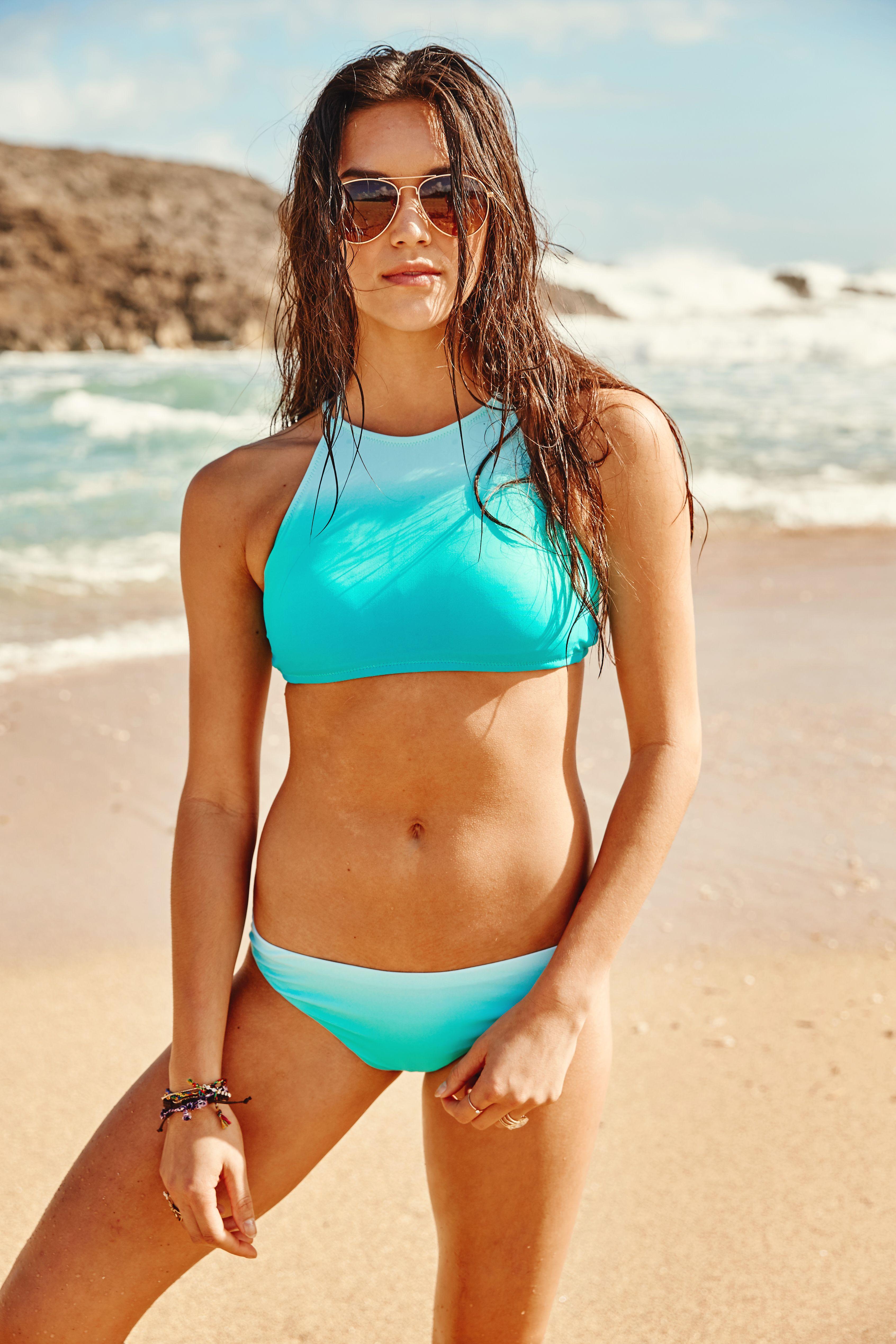 8ce4d387df Halter Swim Tops I Turquoise Swimsuit I Swimwear I Altar d State ...