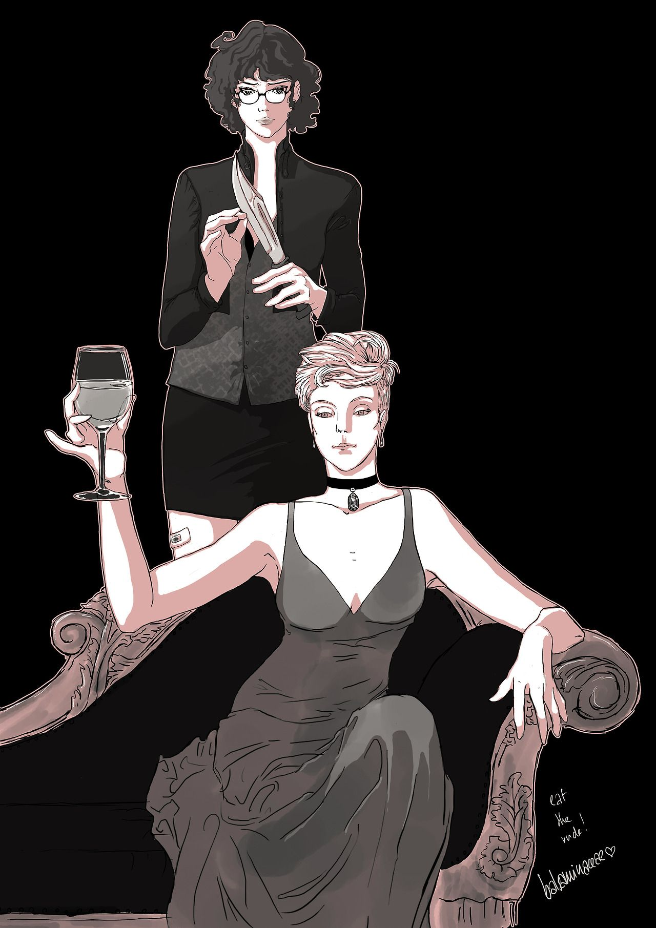 Genderbent Hannibal Lecter And Will Graham Aka The Best Thing Ever