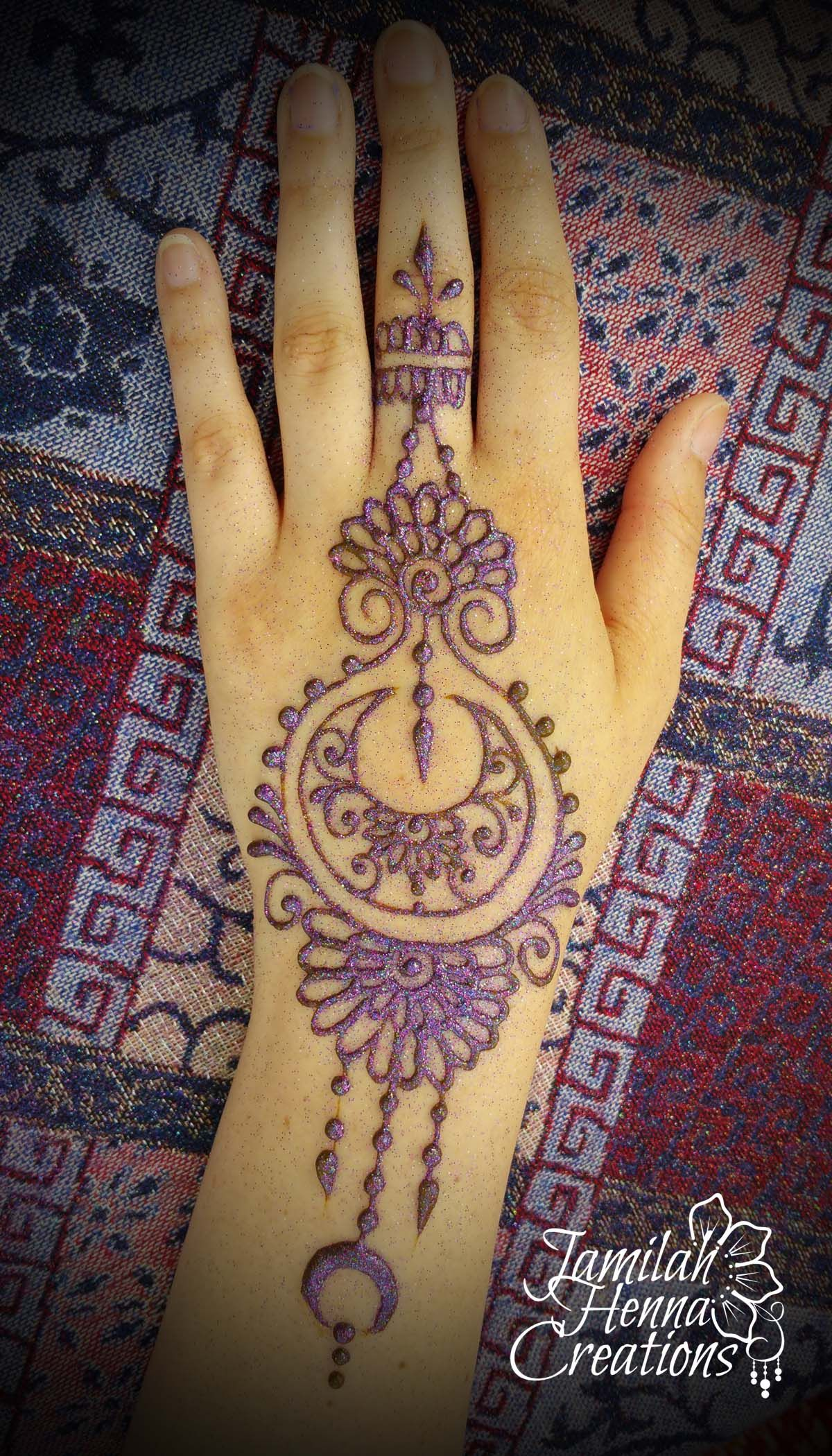 moon and flower henna bright music festival www.jamilahhennacreations.com