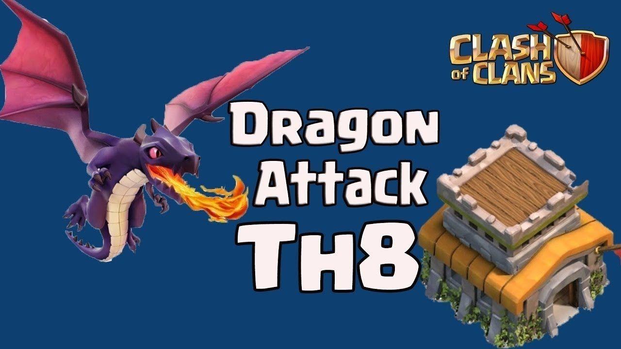 Clash of Clans TH8 Dragon 3 Star Best Clan Wars Attack