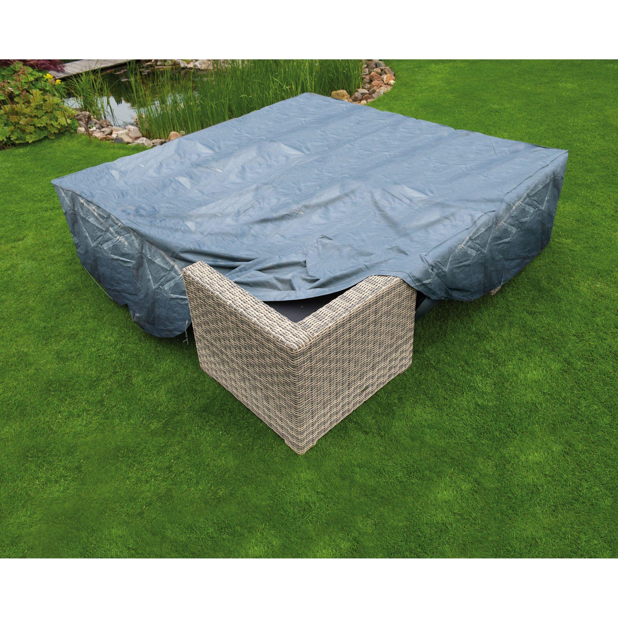 Housse de protection salon bas de jardin 250x250xH70 cm gris ...