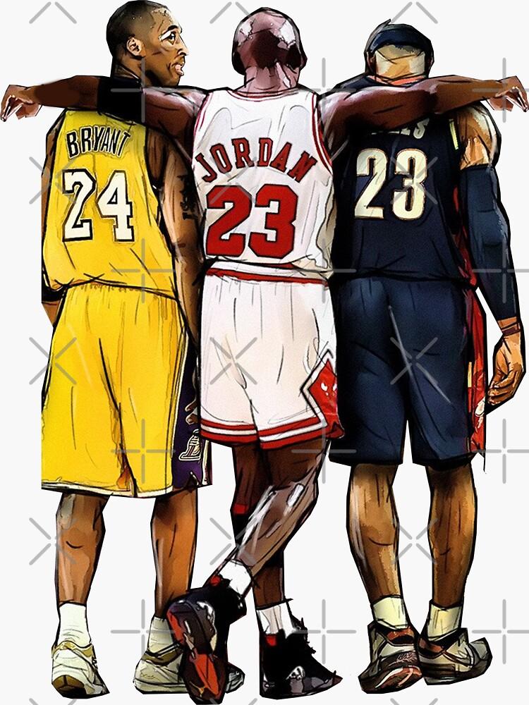 Kobe Bryant X Michael Jordan X Lebron James The Greatest Of All Time Sticker By Xavierjfong Redbubble Kobe Bryant Michael Jordan Nba Mvp Mvp Basketball