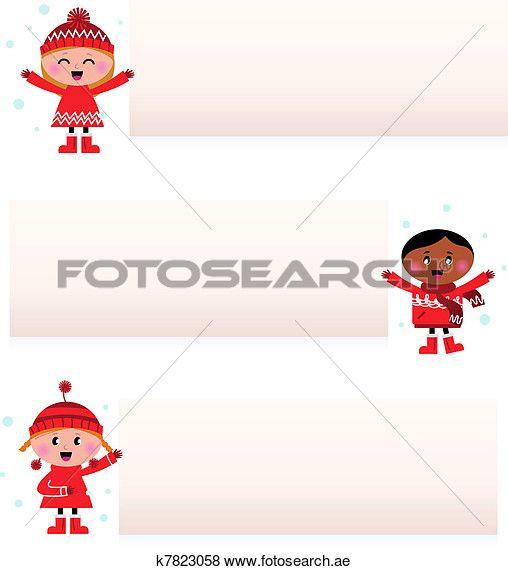جذاب Multicultural ا طفال ب أجوف الرايات عزل عزل على أبيض Clip Art K7823058 Family Guy Character Art