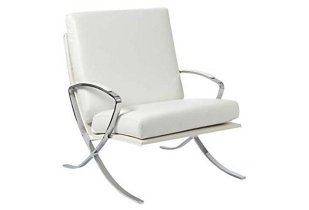 One Kings Lane Style That Works Pietro Lounge Chair White