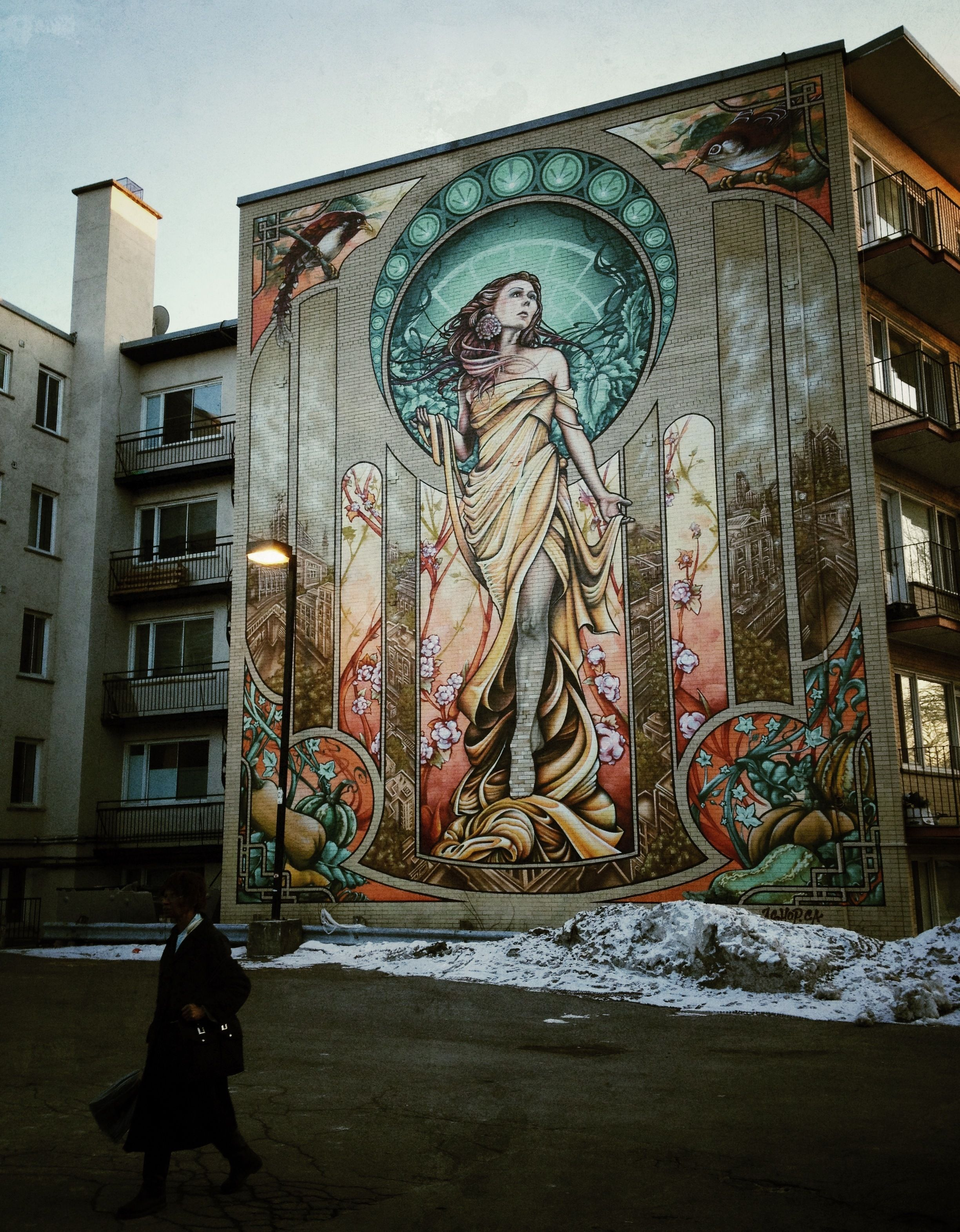 Notre Dame Painting Over Murals