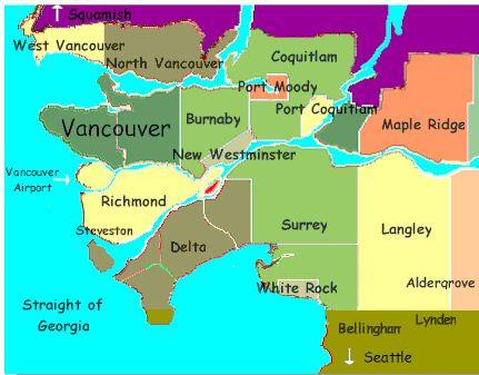 metro vancouver map Google Search Vancouver Pinterest