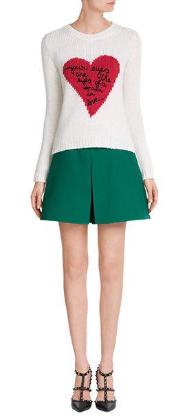 Ist+fast+schon+zu+einem+Basic+in+unserer+Garderobe+geworden:+Shorts!+Hier+von+Valentino+aus+einem+grünen+Wolle-Seiden-Mix+mit+weiten+Hosenbeinen+#Stylebop