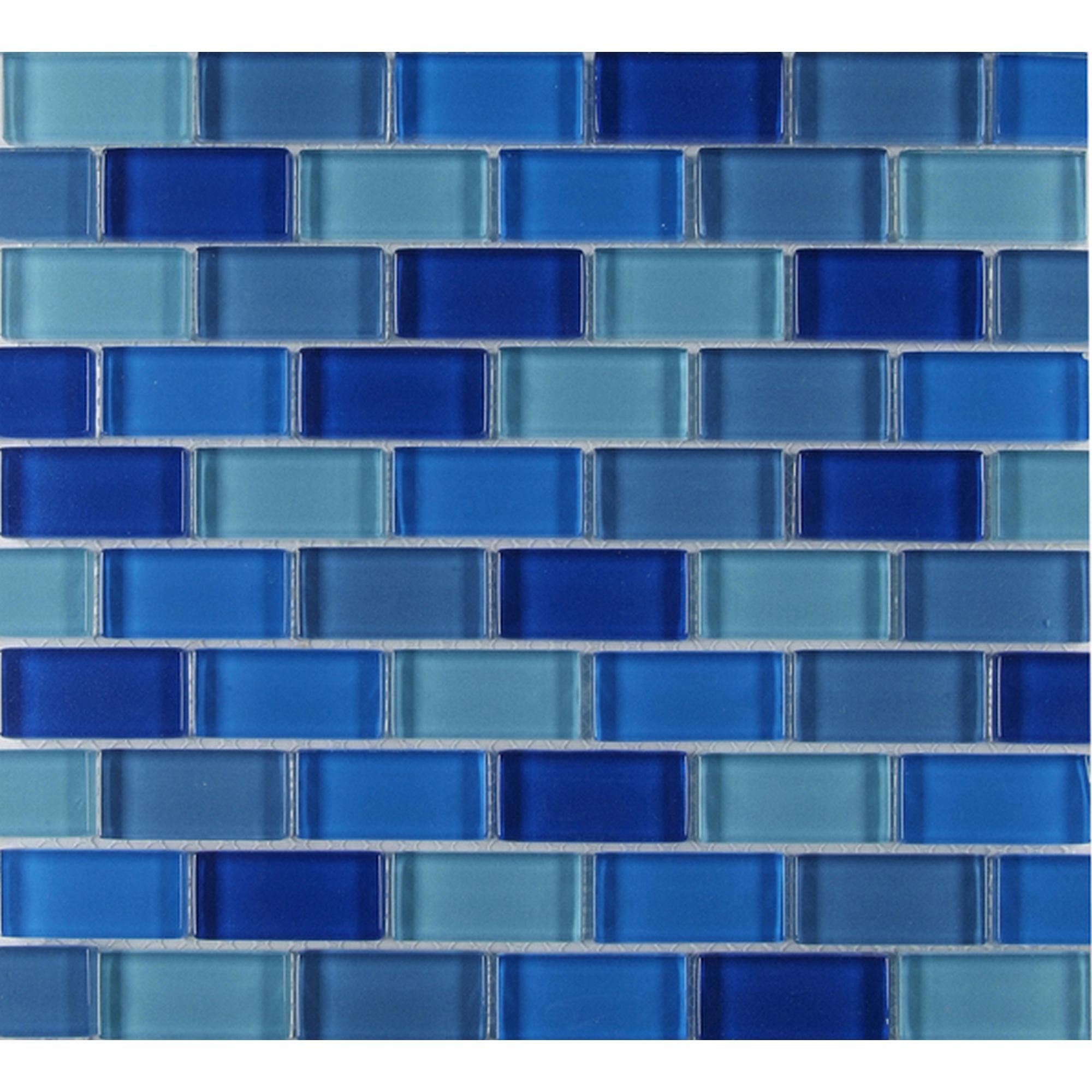 Mosaikfliese Glas Mix Blau 30x30cm Mosaikfliesen Glas Mosaikfliesen Mosaik