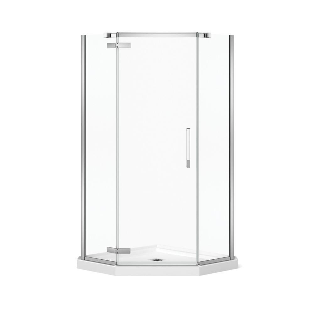 Davana 38 Inch X 38 Inch X 78 Inch Neo Angled Frameless Shower