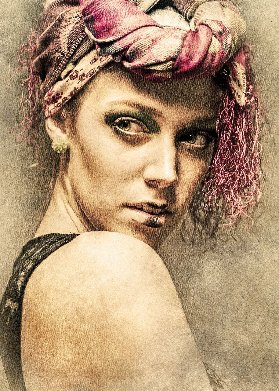 Free Image On Pixabay Portrait Adult People Woman Art