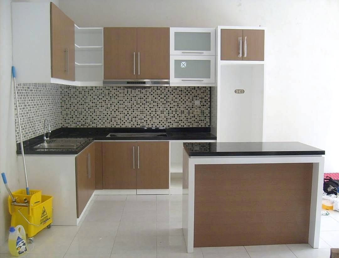 Gambar kitchen set kecil keren dapur minimalis idaman for Model kitchen set sederhana