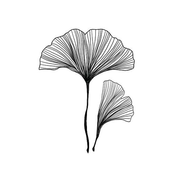 Ginkgo Blätter temporäre Tattoo (2er Set) - Design Diy