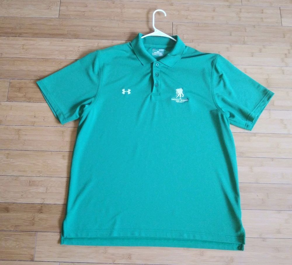 ac242cf9 Under Armour Wounded Warrior Project Heat Gear Loose XL Green Solid Polo  Golf #fashion #