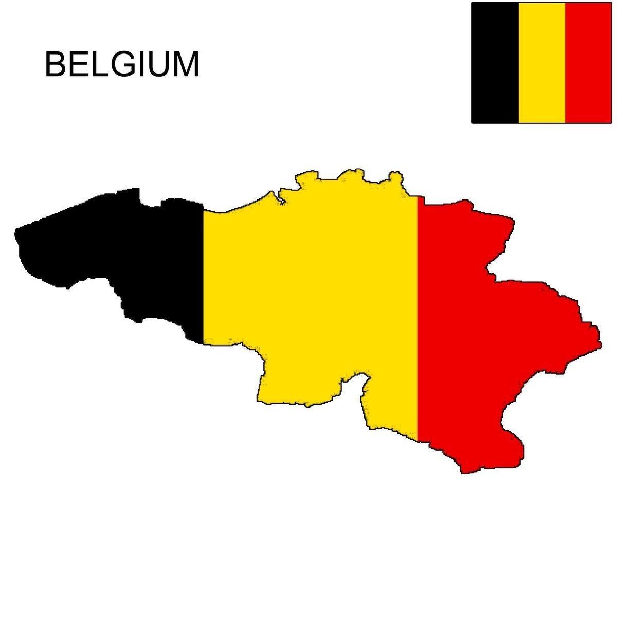 Belgium Map With Flag In 2020 Belgium Flag Belgium Map Flag