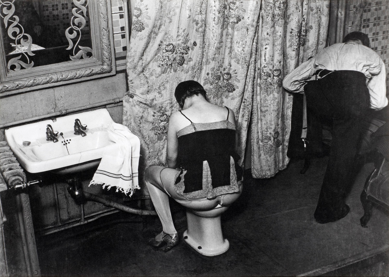 """BRASSAÏ, """"'La Toilette' dans un hôtel de passe, rue Quincampoix á Paris"""", 1932 (Washing up in a brothel, rue Quincampoix, Paris). Signed Brassaï on verso. Also with stamp """"Copyright by Bra.... - The Spring Contemporary, Stockholm 567 – Bukowskis"""