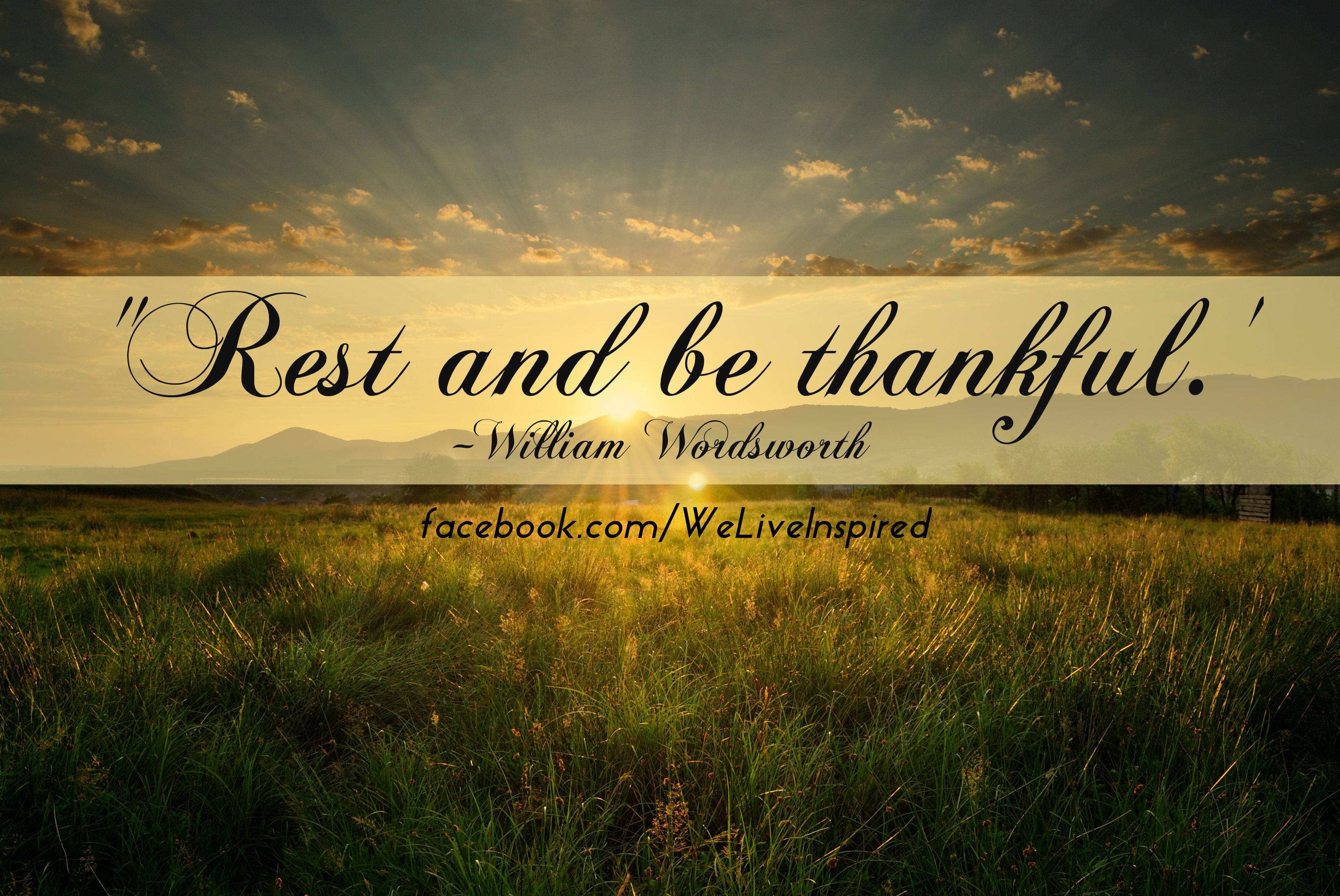 labor day quotes inspirational | Rest & Be Thankful Quote ...