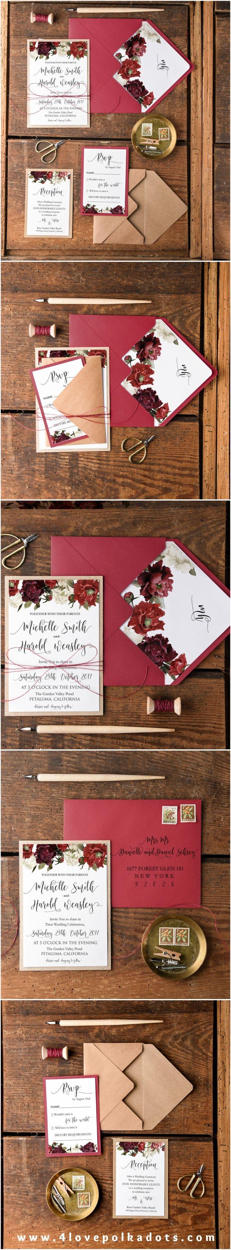 WEDDING INVITATIONS watercolor | Floral wedding, Floral and Weddings