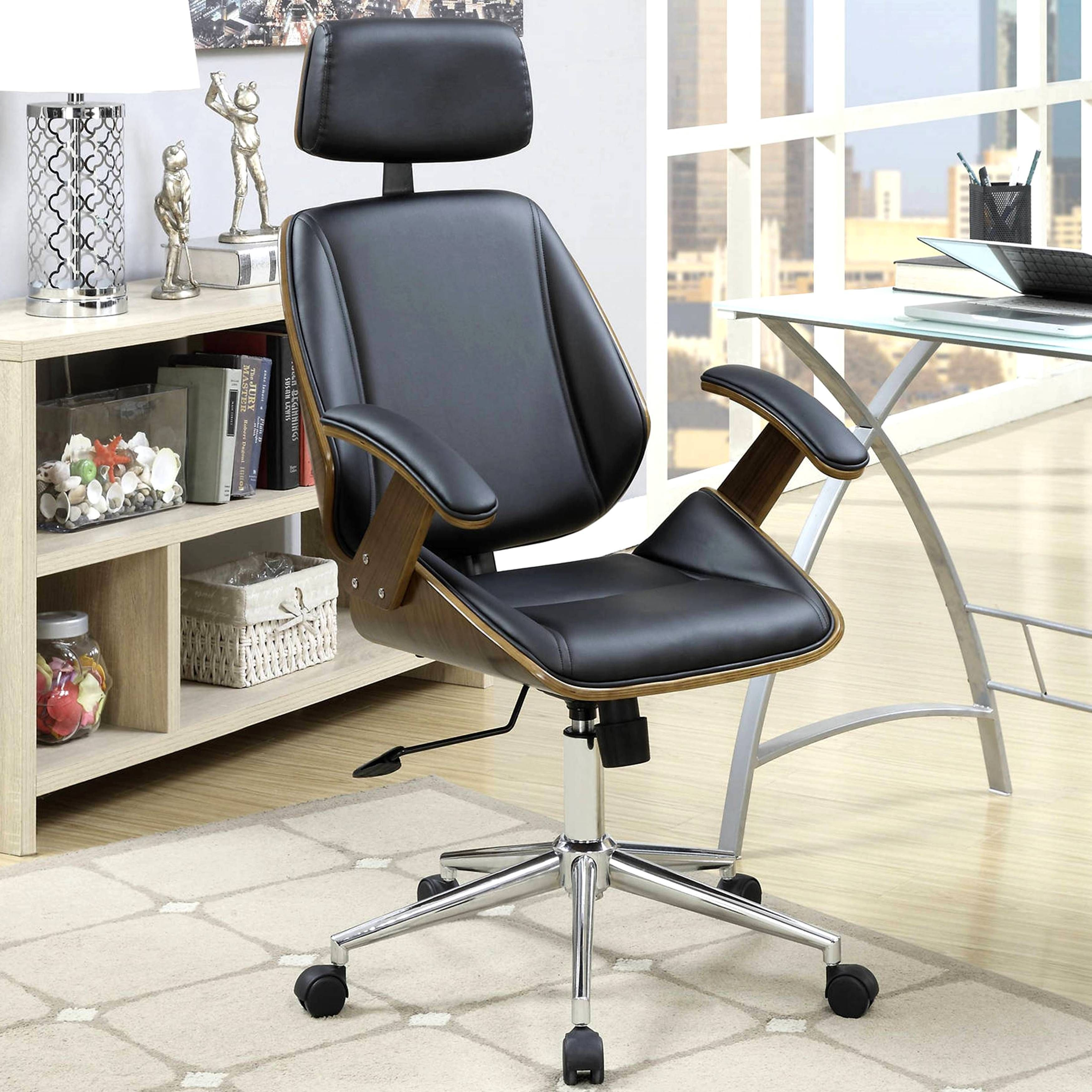 Mid Century Modern Bentwood Adjustable Office Chair With Padded