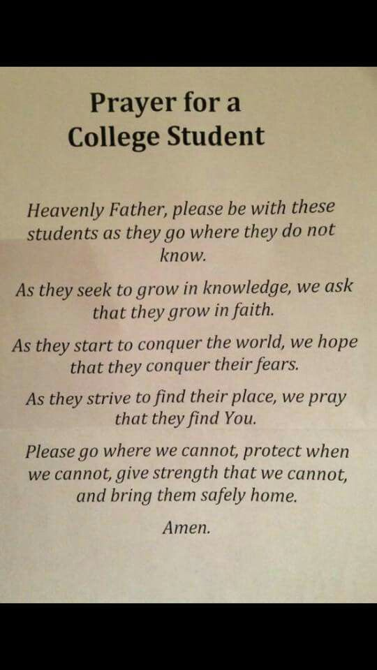 A prayer for my son … | Great Quotes | Prayers for college ...