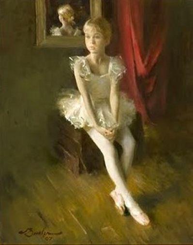 Waiting,  Joe Bowler (1928, American), I AM A CHILD-children in art history-blog