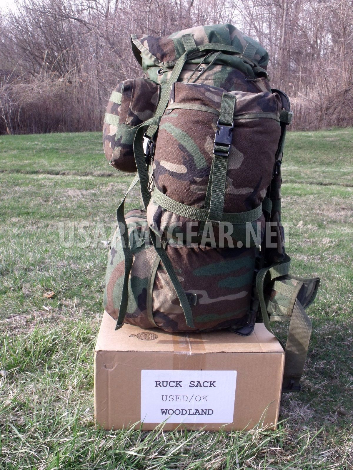 81fe7c1dc27c US Army Molle Large Rucksack Woodland Back Pack System Set Gen 4 Frame –  You Fix | US Army Gear