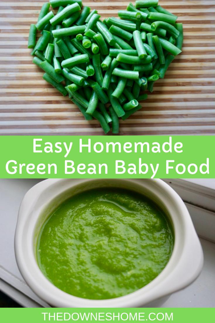 Homemade Green Bean Baby Food (Stage 1 Puree) #greenbean
