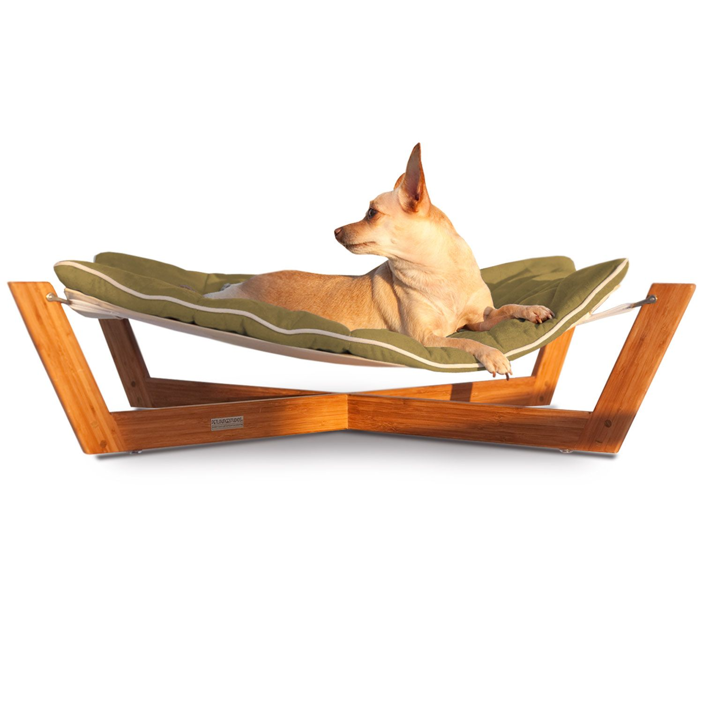 Pet Lounge Studios Bambu Cross Hammock Pet Bed in Green