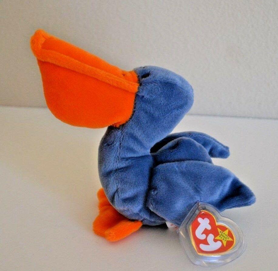 TY 1996 Original Scoop Beanie Baby the Pelican Retired MWMT