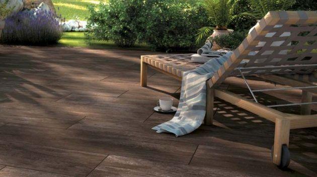 Terrasse in holzoptik inspirierende ideen von kann for Fliesen holzoptik garten