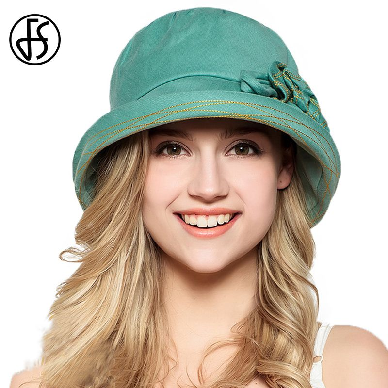 Find More Sun Hats Information about FS 100% Cotton Summer Hat Women Beach  Fashion Foldable c4545b5b2524